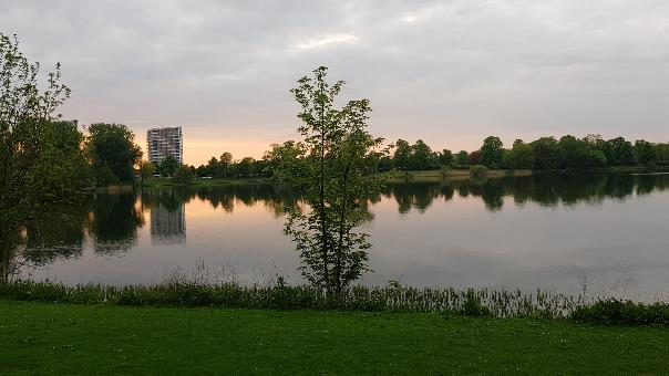 """Ijzeren Vrouw"" urban lake in 's-Hertogenbosch, the Netherlands: converted borrow pit"