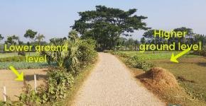 Use roads to capture sediments